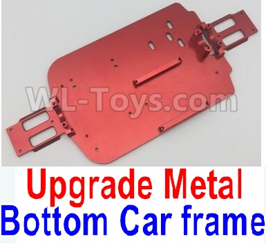 Wltoys A959B A959-B RC Car Upgrade Metal Bottom Car frame,Upgrade Metal Baseboard-Red,Wltoys A959B A959-B Parts