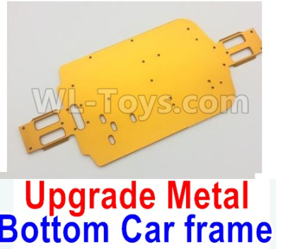 Wltoys A959B A959-B RC Car Upgrade Metal Bottom Car frame,Upgrade Metal Baseboard-Yellow,Wltoys A959B A959-B Parts