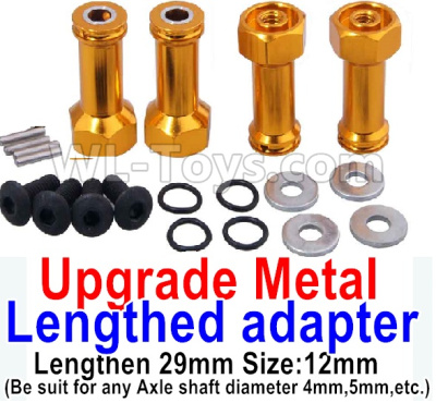 Wltoys A979-B Upgrade Metal Lengthed adapter Parts(4 set)-Lengthen 29mm-Yellow,Wltoys A979-B Parts