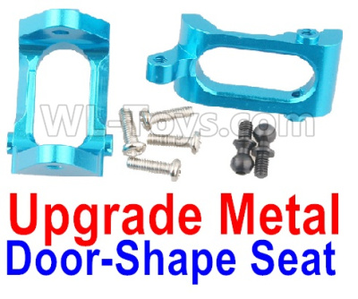 Wltoys A959B A959-B RC Car Upgrade Metal Door-Shape Seat Parts(2pcs)-Blue,Wltoys A959B A959-B Parts