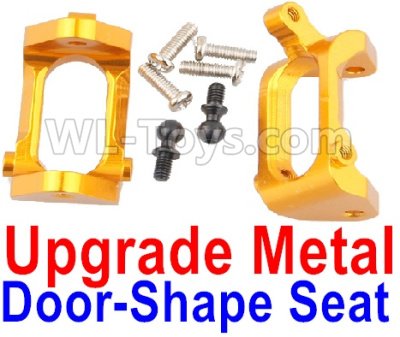 Wltoys A959B A959-B RC Car Upgrade Metal Door-Shape Seat Parts(2pcs)-Yellow,Wltoys A959B A959-B Parts