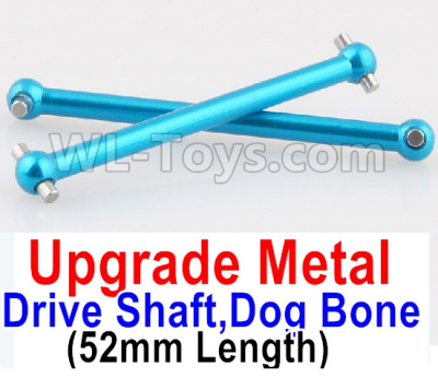 Wltoys A959B A959-B RC Car Upgrade Metal Drive Shaft,Dog Bone(2pcs)-Blue,Wltoys A959B A959-B Parts