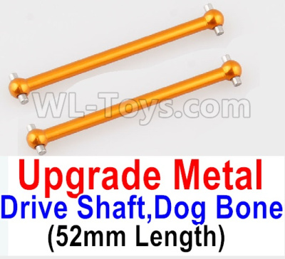 Wltoys A959B A959-B RC Car Upgrade Metal Drive Shaft,Dog Bone(2pcs)-Yellow,Wltoys A959B A959-B Parts