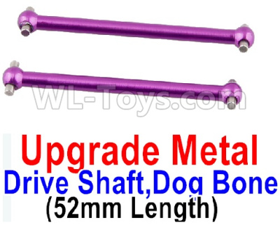 Wltoys A959B A959-B RC Car Upgrade Metal Drive Shaft,Dog Bone(2pcs)-Purple,Wltoys A959B A959-B Parts