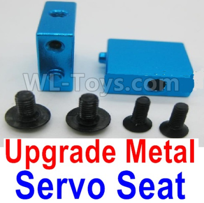 Wltoys A959B A959-B RC Car Upgrade Metal Servo Seat Parts-Blue,Wltoys A959B A959-B Parts