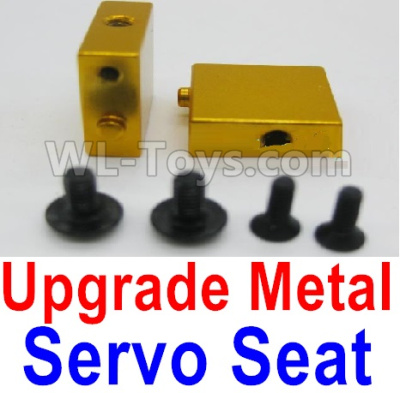Wltoys A959B A959-B RC Car Upgrade Metal Servo Seat Parts-Yellow,Wltoys A959B A959-B Parts
