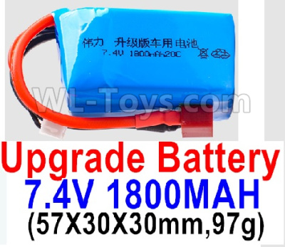 Wltoys A979-B Battery Parts-7.4V 1800mah 20C Battery with Red T Plug(1pcs)-(57X30X30mm,97g),Wltoys A979-B Parts