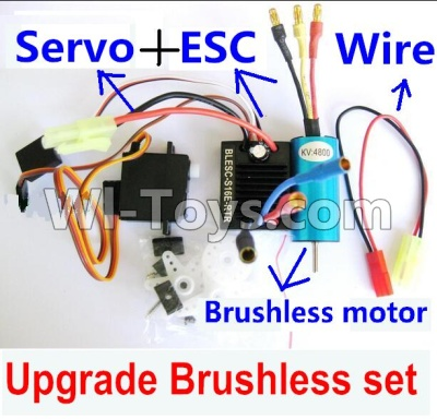 Wltoys A959B A959-B Car Upgrade Parts-Upgrade Brushless Set(Include the Brushless motor,ESC,Servo,Conversion wire),Wltoys A959B A959-B Parts