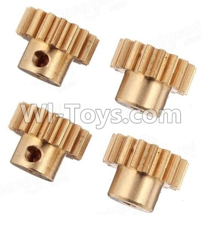 Wltoys A959B A959-B Car Parts-Copper motor Gear(4pcs)-0.7 Modulus-27 Teeth,Wltoys A959B A959-B Parts