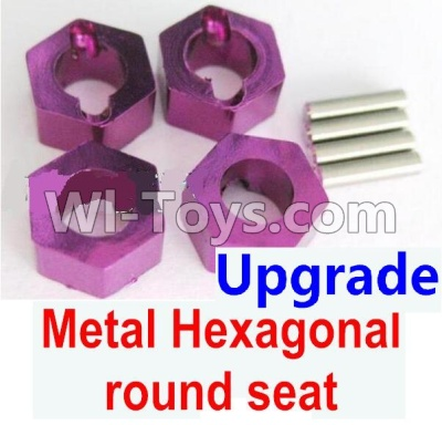 Wltoys A959B A959-B Car Upgrade Parts-Upgrade Metal Hexagonal round seat(4pcs)-Purple,Wltoys A959B A959-B Parts
