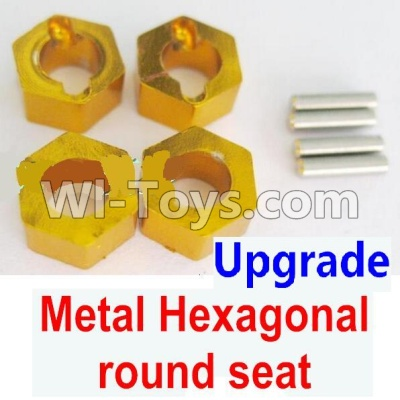 Wltoys A959B A959-B Car Upgrade Parts-Upgrade Metal Hexagonal round seat(4pcs)(4pcs)-Yellow,Wltoys A959B A959-B Parts