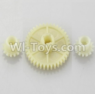 Wltoys A959B A959-B Car Parts-Reduction gear with 2 small gear Parts-,Wltoys A959B A959-B Parts