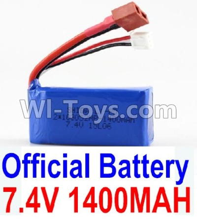 Wltoys A959B A959-B Car Parts-Battery-Official 7.4v 1400mah Battery with T-shape Plug,Wltoys A959B A959-B Parts
