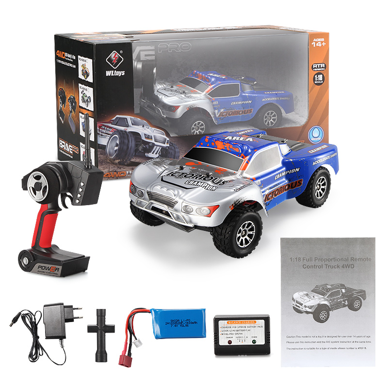 WLtoys A969-B RC Car Wltoys A969-B High speed 1/18 1:18 Full-scale RC Racing Car 4wd
