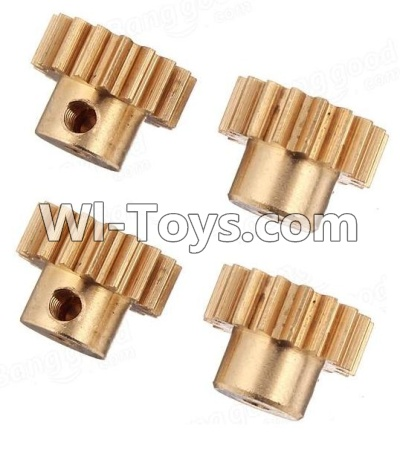 Wltoys A969 RC Car Parts-Copper motor Gear Parts-(4pcs)-0.7 Modulus,Wltoys A969 Parts