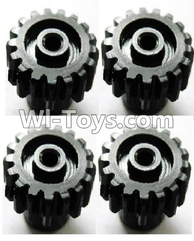 Wltoys A969 Upgrade Parts-Upgrade motor Gear Parts-(4pcs)-0.7 Modulus-Black,Wltoys A969 Parts