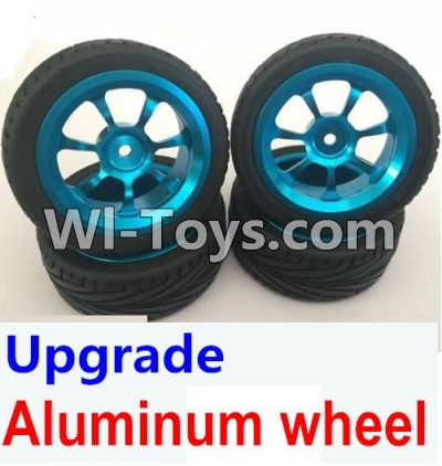 Wltoys A969 Upgrade Parts-Upgrade Aluminum wheel Parts(4pcs-Include the Tire leather)