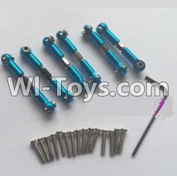 Wltoys A969 Upgrade Parts-Upgrade Metal Connect buckle Parts,Trolley(7pcs),Wltoys A969 Parts