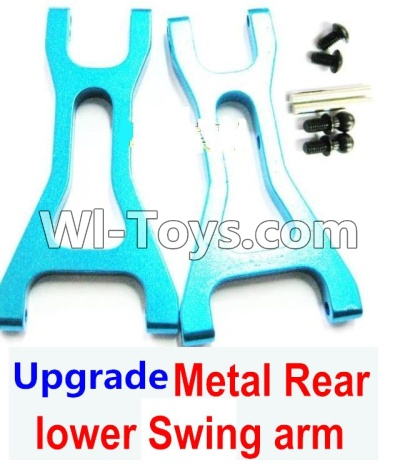 Wltoys A969 Upgrade Parts-Upgrade Metal Rear lower Swing arm,Lower Suspension Arm Parts-2pcs-Blue