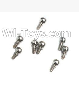 Wltoys A969 RC Car Parts-Ball-shape screws Parts(9.3mmX5mm)-8pcs,Wltoys A969 Parts