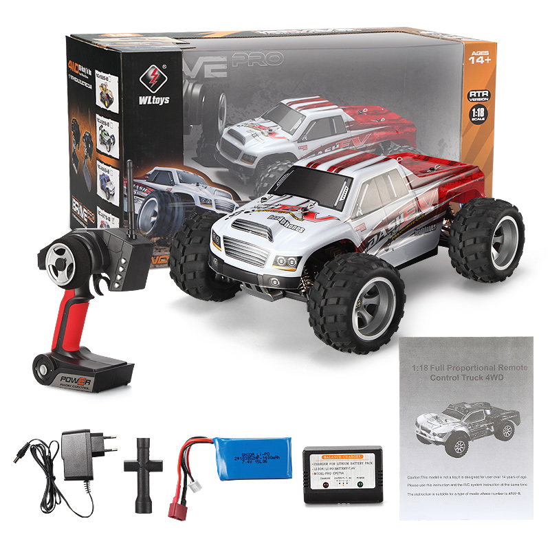Wltoys A979-B RC Car Wltoys A979-B High speed 1/18 1:18 Scale 4wd,2.4G A979-B rc racing car