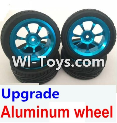 Wltoys A979-B A979B Car Upgrade Parts-Upgrade Aluminum wheel(4pcs-Include the Tire leather,4pcs 7mm-to-12mm Adapter),Wltoys A979B A979-B Parts
