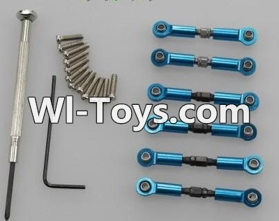 Wltoys A979-B A979B Car Upgrade Parts-Upgrade Metal Connect buckle,Trolley(6pcs)-Blue,Wltoys A979B A979-B Parts