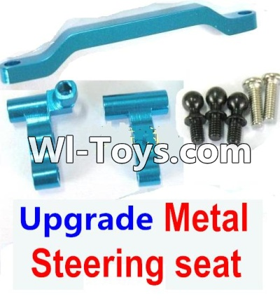 Wltoys A979-B A979B Car Parts-Ugrade Metal Steering seat-Blue,Wltoys A979B A979-B Parts