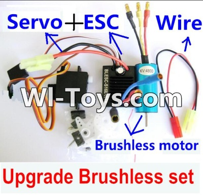 Wltoys A979-B A979B Car Upgrade Parts-Upgrade Brushless Set(Include the Brushless motor,ESC,Servo,Conversion wire),Wltoys A979B A979-B Parts