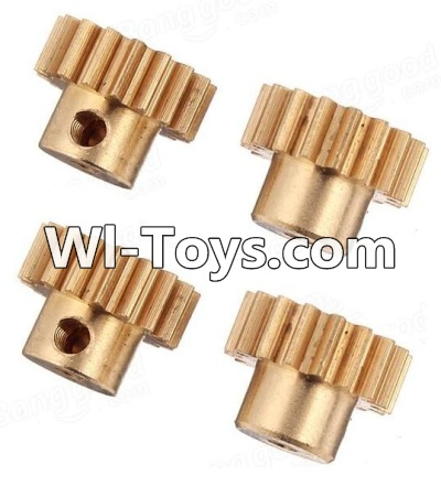 Wltoys A979-B A979B Car Parts-Copper motor Gear(4pcs)-0.7 Modulus-27 Teeth,Wltoys A979B A979-B Parts