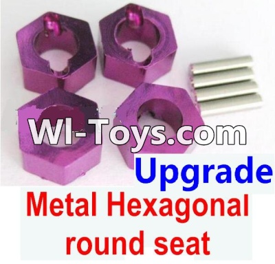 Wltoys A979-B A979B Car Upgrade Parts-Upgrade Metal Hexagonal round seat(4pcs)-Purple,Wltoys A979B A979-B Parts