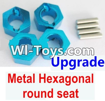 Wltoys A979-B A979B Car Upgrade Parts-Upgrade Metal Hexagonal round seat(4pcs)(4pcs)-Blue,Wltoys A979B A979-B Parts
