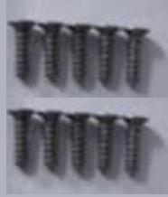 Wltoys A979-B A979B Car Parts-Countersunk head self-tapping screws Parts-M2X9.5(10PCS)-A949-48,Wltoys A979B A979-B Parts