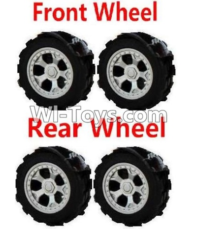 Wltoys A989 RC Car Parts-Front Wheel Parts-2pcs & Rear Wheel Parts-2pcs,Wltoys A989 Parts