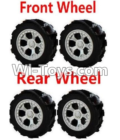 Wltoys A999 RC Car Parts-Front Wheel Parts-2pcs & Rear Wheel Parts-2pcs,Wltoys A999 Parts