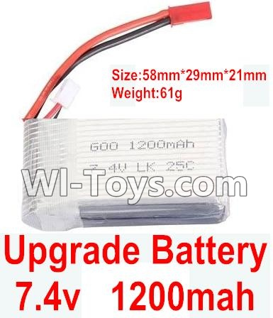 Wltoys K929 Upgrade Parts-Upgrade 1200mah battery(Size-58mmX29mmX21mm)(Weight-61g)