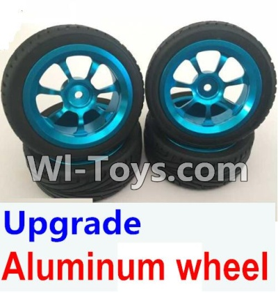 Wltoys K929 Upgrade Parts-Upgrade Aluminum wheel Parts-(4pcs-Include the Tire leather)