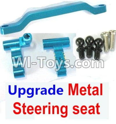 Wltoys K929 RC Car Ugrade Parts-Upgrade Metal Steering seat-Blue,Wltoys K929 Parts