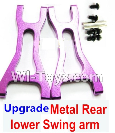 Wltoys K929 Upgrade Parts-Upgrade Metal Rear lower Swing arm,Lower Suspension Arm Parts-2pcs-Purple
