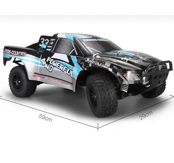 Wltoys K939 RC Car,RC Racing Car 1/10 4WD 2.4G Electric RC Short Course RTR High-Speed Remote Control Wltoys K939 RC Car Toys Truck Buggy-Black&Blue