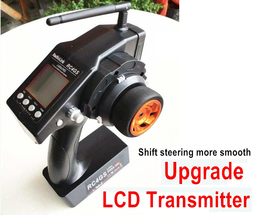 Wltoys 10428-B Upgrade LCD Transmitter for the Brushless Kit-Shift steering more smooth