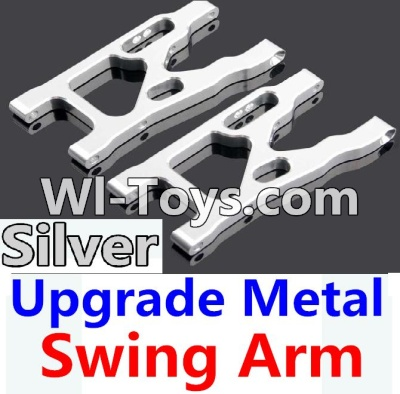 Wltoys 10428-C Upgrade Parts-Upgrade Metal Swing Arm Parts-Silver-2pcs,Wltoys 10428-C Parts