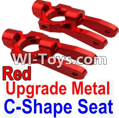 Wltoys 10428-C Upgrade Parts-Upgrade Metal C-Shape Seat Parts-Red-2pcs,Wltoys 10428-C Parts