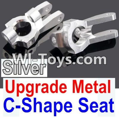 Wltoys 10428-C Upgrade Parts-Upgrade Metal C-Shape Seat Parts-Silver-2pcs,Wltoys 10428-C Parts