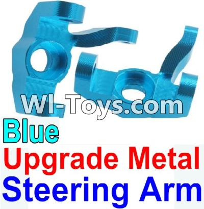 Wltoys 10428-C Upgrade Parts-Upgrade Metal Steering arm Parts-Blue-2pcs,Wltoys 10428-C Parts