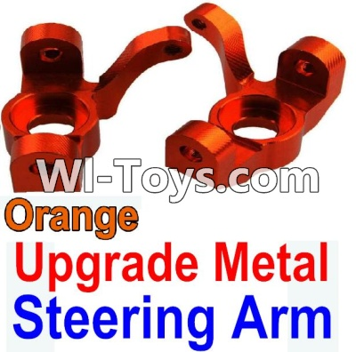 Wltoys 10428-C Upgrade Parts-Upgrade Metal Steering arm Parts-Orange-2pcs,Wltoys 10428-C Parts