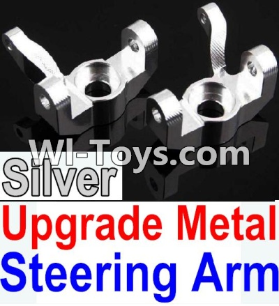 Wltoys 10428-C Upgrade Parts-Upgrade Metal Steering arm Parts-Silver-2pcs,Wltoys 10428-C Parts