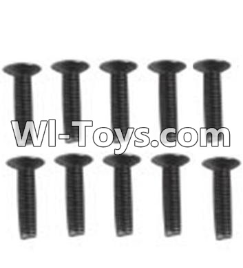 Wltoys 10428-C RC Car Parts-A929-60 Countersunk head inner hexagon Screws Parts-M3X16-Black zinc plated(10PCS),Wltoys 10428-C Parts