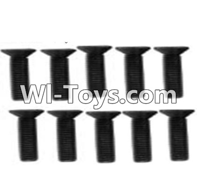 Wltoys 10428-C RC Car Parts-A929-61 Countersunk head inner hexagon Screws Parts-M3X12-Black zinc plated(10PCS),High speed 1:10 Scale 4wd Racing Truck Car Parts