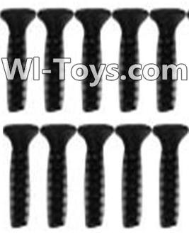 Wltoys 10428-C RC Car Parts-A929-63 Countersunk head inner hexagon Screws Parts-M2.6X10-Black zinc plated(10PCS),High speed 1:10 Scale 4wd,Racing Truck Car Parts